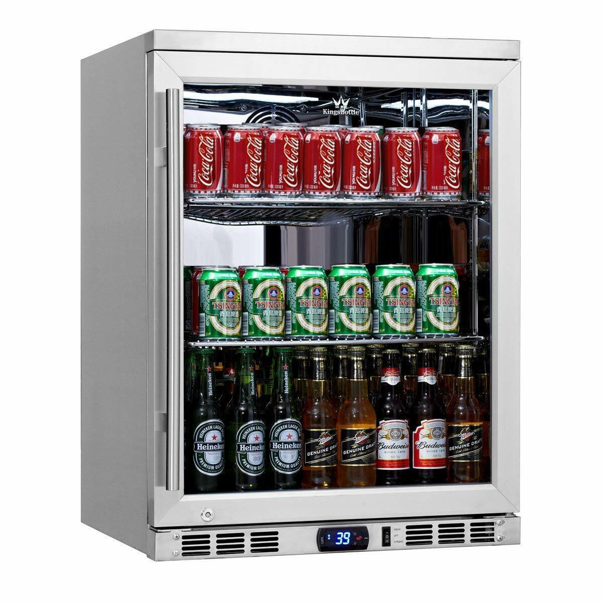 KingsBottle 140 Can 1-Door Under Counter Beverage Cooler Hea