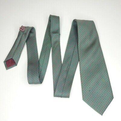 Vintage Gucci Tie Monogram Logo Geometric Printed Slim Italian Silk Handsewn
