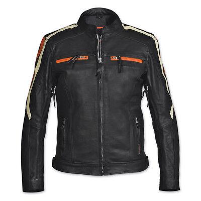 Scooter jacket zip liner Interstate leather motorcycle ladies Black Orange XL HB Ladies Scooter Jacket