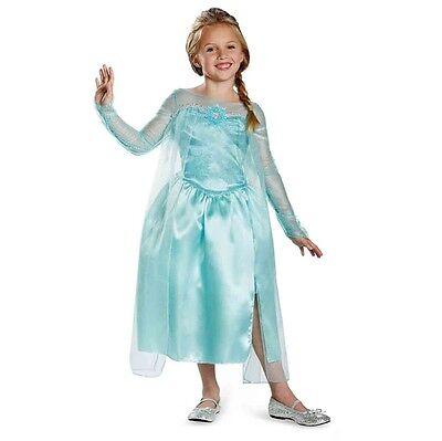 Disney Frozen Elsa Snow Queen Classic Blue Dress Child Costume 76906 Disguise