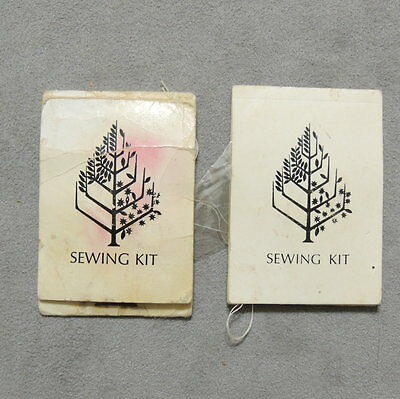 Craft Sewing Kit Vintage FOUR SEASONS Toronto Canada Match Book Size Lot of 2