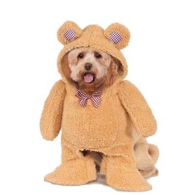 Walking Teddy Bear Pet Costume - 5 Sizes - Cute Funny Dog Halloween Costumes - Teddy Bear Dog Halloween Costumes