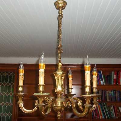 Französischer Kronleuchter Bronze/Messing massiv 5 Kg