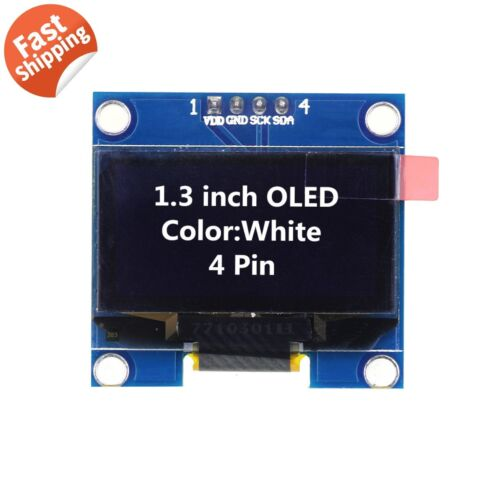 """1.3"""" SSD1106 I2C 128X64 OLED Display Module Board For Arduino White US Seller"""