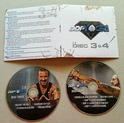 DDP Yoga Diamond Dallas Page 2.0 DVD discs 3 and 4 Free shipping!