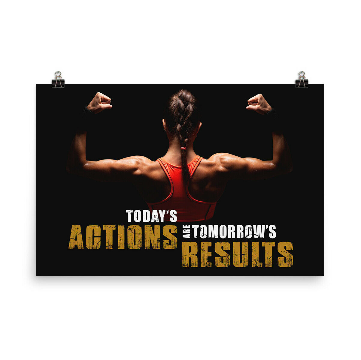 Workout Gym Fitness Quotes Poster Motivational Inspiration Poster Wall Art Ebay