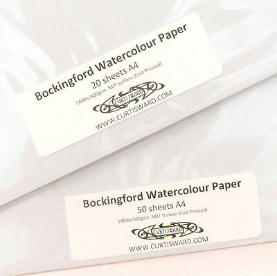 Bockingford Artists WaterColour Paper A4 Pack 20 Sheets NOT 300g Curtisward Pack