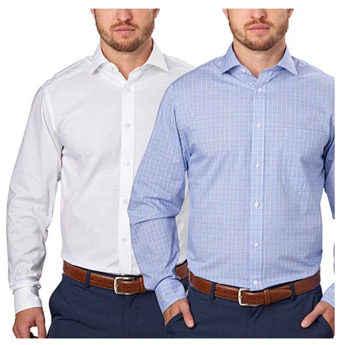 Tommy Hilfiger Men's Regular Fit Long Sleeve Dress Shirt, 2