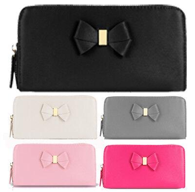 Smith Bow (Anna Smith Bow Design Purse Womens Zip Wallet Coin Notes Card Holder Boxed Gift)