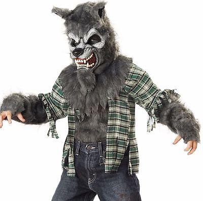 Wolf Costume Child (Child Wolf Werrewolf Howlin At The Moon Boy's)