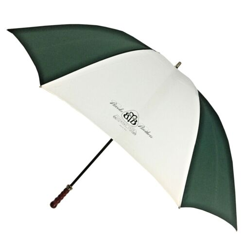 Brooks Brother Country Club Umbrella Wood Handle NEW