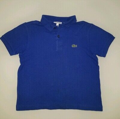 Lacoste Boys Size 8 Blue Polo Great Condition!