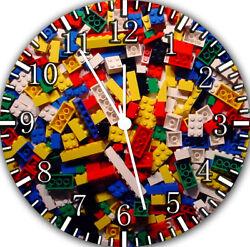 Lego Blocks Bricks Frameless Borderless Wall Clock Nice For Gifts or Decor F22