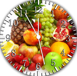Fruit Kitchen Frameless Borderless Wall Clock Nice For Gifts or Decor F27