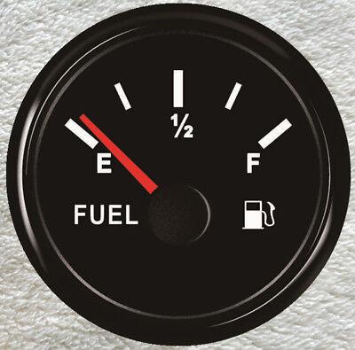 Black Universal Fuel Gauge,Signal Adjustable Fuel Level Gauge,Oil Tank Level