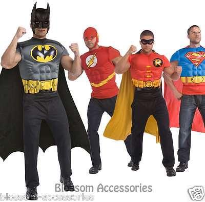 Cheap Robin Costume (CL489 Mens Superheroes Batman Robin Superman Flash Muscle T-Shirt Top)