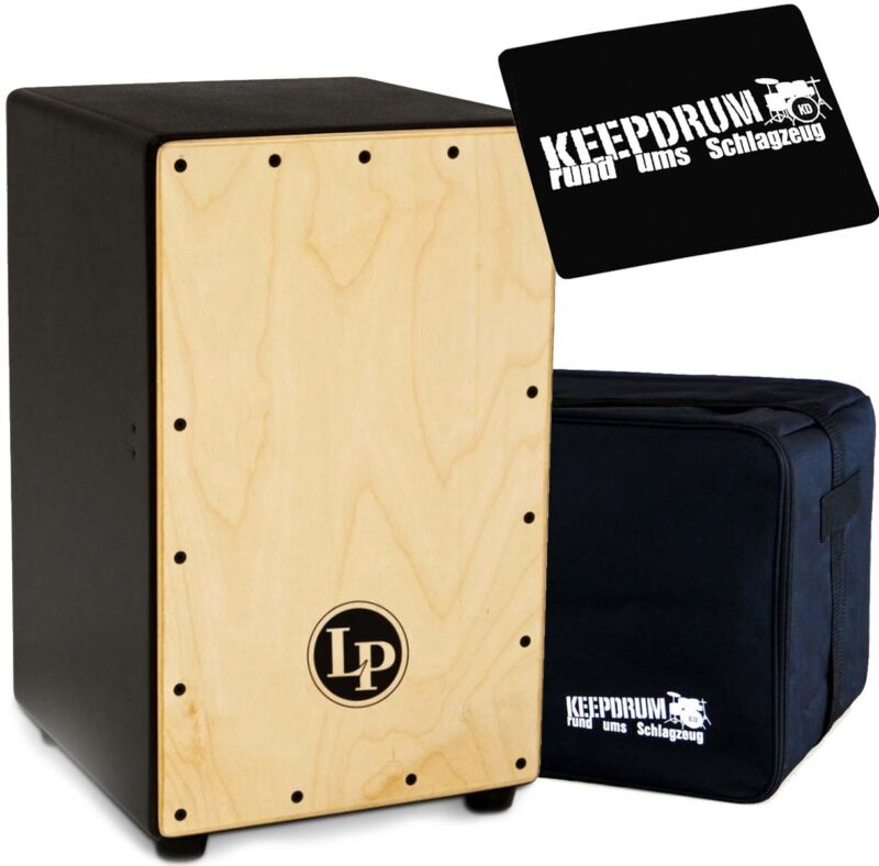 LP Latin Percussion LP1426 Adjustable Cajon + Keepdrum Gig Bag + Pad