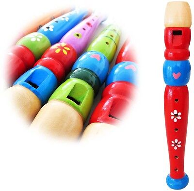 KEEPDRUM KFL1RD Flöte aus Holz für Kinder Rot
