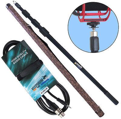 KEEPDRUM MPB03 Boompole 3m Tonangel +  MC-008XJ 3m Mikrofonkabel XLR - 3,5mm