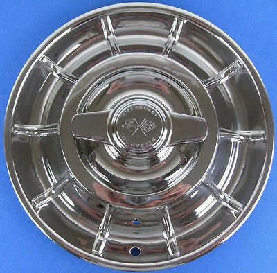 1956-1958 Corvette Hubcap Original Polished 56 57 58