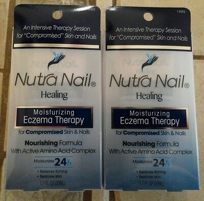 Nutra Nail Healing Moisturizing Eczema Therapy for Skin & Nails 1.7 oz (2 pack)