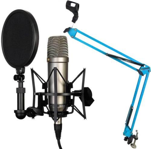 Mikrofonklemme KEEPDRUM MS106 BK Mikrofonständer Mikrofonstativ mit Galgen