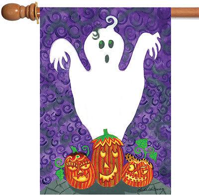 Toland Halloween Buddies 28 x 40 Spooky Ghost Pumpkin Gourd House Flag](Gourd Halloween Ghost)