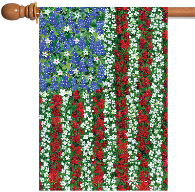 Toland Field of Glory 28 x 40 Colorful Flower Floral USA America House Flag