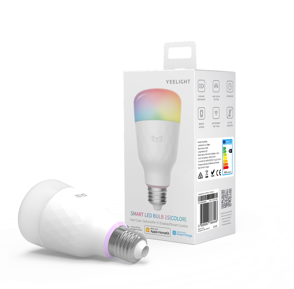 Yeelight LED Bulb 1S Multicolore - Lampadina Led WiFi E27 8,5W 800lm RGB+CCT