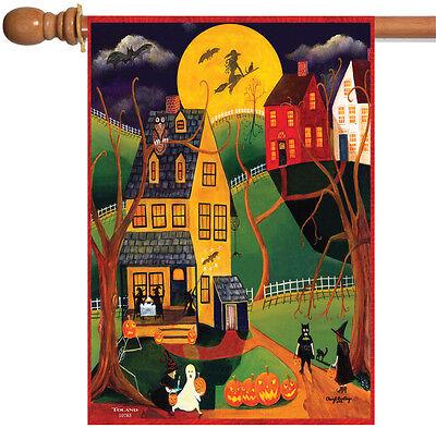 Toland Halloween Night 28 x 40 Spooky Americana Haunted Witch House Flag](Spooky Halloween Night)