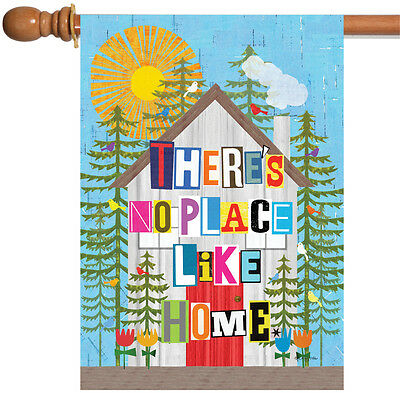 - Toland No Place Like Home 28 x 40 Colorful Tree Sun Flower House Flag