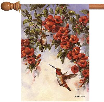 Toland Hovering Hummingbirds 28 x 40 Flying Bird Spring Flow