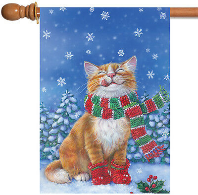 NEW Toland - Kitten Mittens - Cute Winter Cat Scarf Snow House Flag