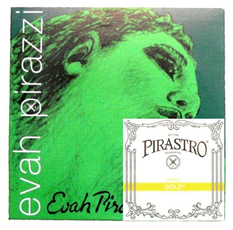Evah Pirazzi Violin String Set 4/4 Medium Gauge with gold label e
