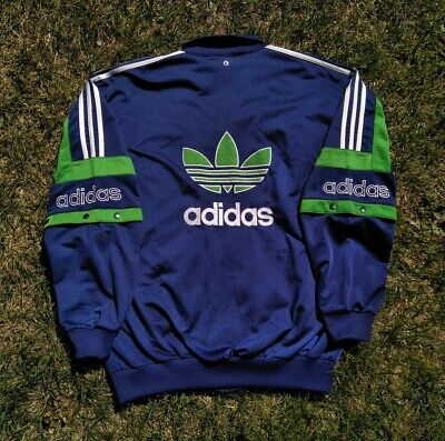 Vintage 90s Adidas Trefoil Jacket Big Logos Spell Out Removable Sleeves Crazy