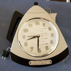 Country Breeze FirsTime American Black Silver Coffee Pot Quartz 9 Wall Clock