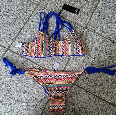 Damen Bikini Größe 44 orange blau ☆