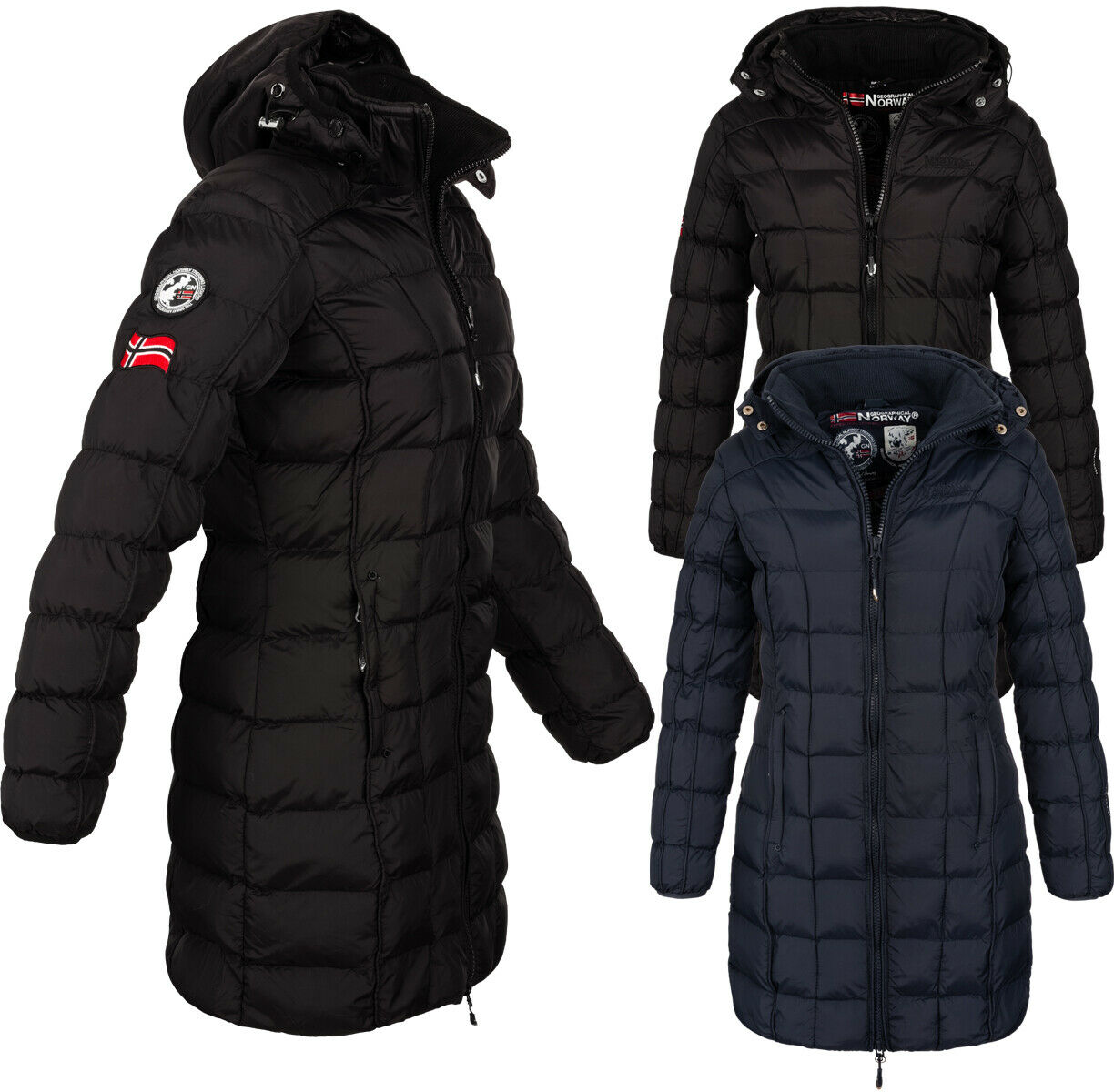 Geographical Norway  Damen Winter Jacke FVSB mantel parka Steppjacke langejacke