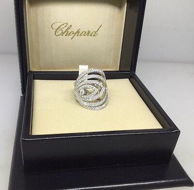 CHOPARD HEART SHAPED WHITE GOLD DIAMOND RING 82/5232 NEW!! $20,730 RETAIL!!!