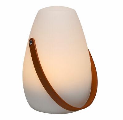 LED Tischlampe 20cm - Timer - weiß Außen Tisch Leuchte Garten Deko Batterie