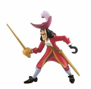 Peter Pan Captain Hook Figurine - Disney Bullyland Toy Figure Cake Topper