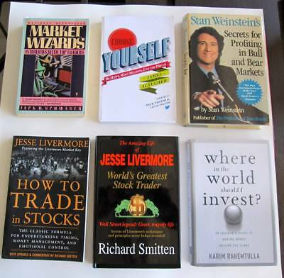 Stock Trading Books S P500 Dow Futures Indexes Livermore John Person   Mar Zweig