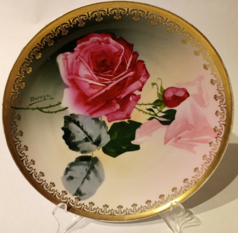 Antique P. L. Imperial Empire Artist Signed Hand Painted Porcelain Plate