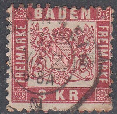 Baden MiNr. 24 Zweikreisstempel Mannheim