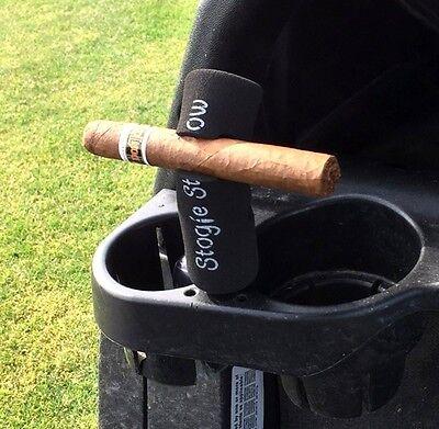 Golf Cigar Holder - Stogie Stow - Cigar Holder - Golf Cart Mount