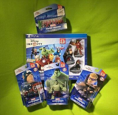 Infinity 2.0 Marvel starter set, 3 additional Avenger figures & power disc case (Marvels Power Disc)