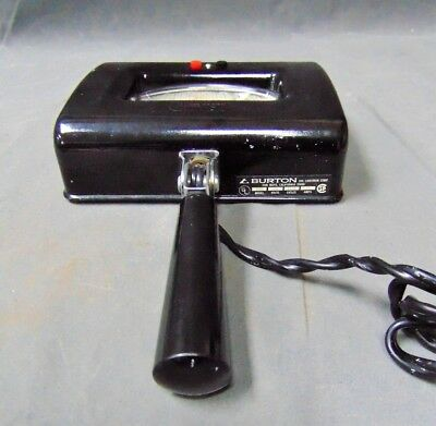 Vintage Burton Uv Hand Held Examination Lamp Model 9312 Black 115v