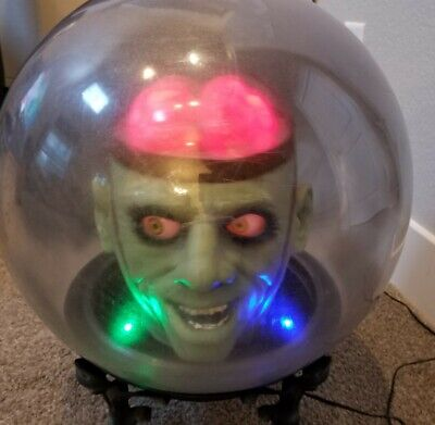 "Gemmy Animated Large 14"" Animated SPOOKY SPIRIT BALL Halloween Prop"