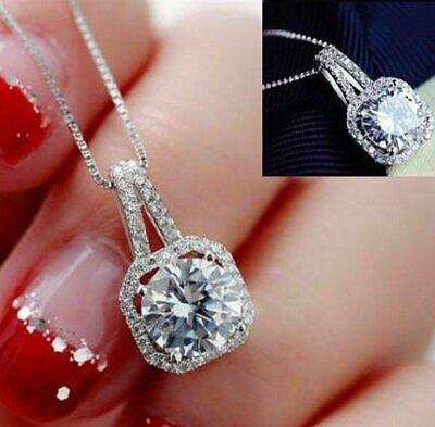 Fashion Women Pendant Crystal Statement Chain Bib Necklace Jewelry w/19″ Chain Fashion Jewelry