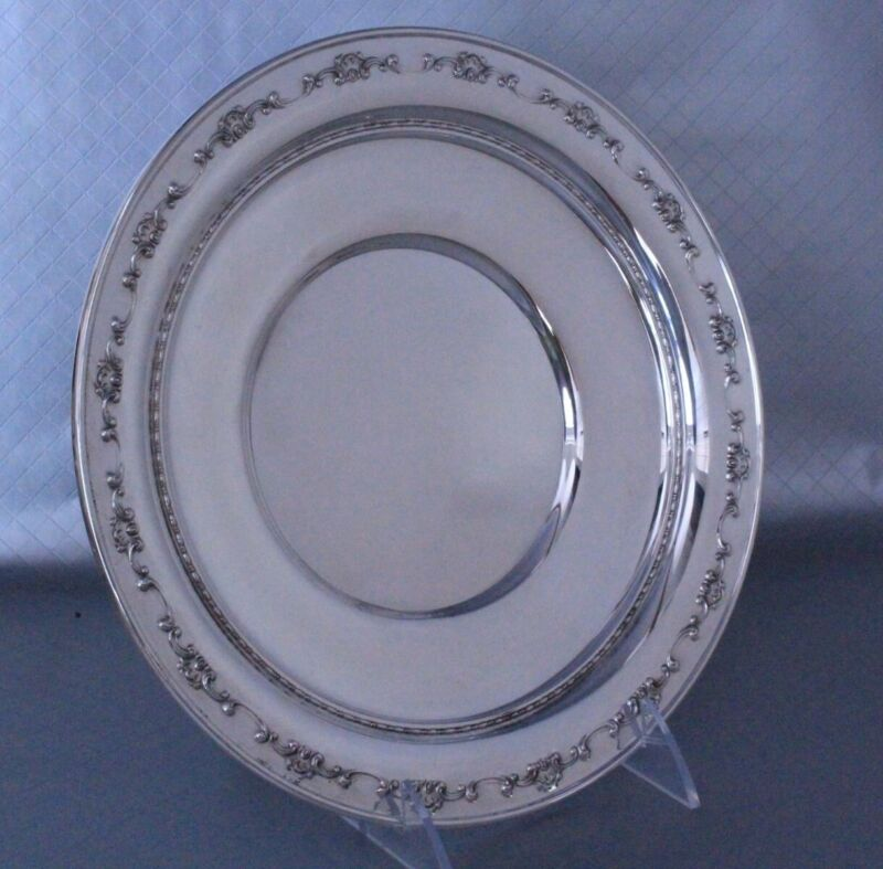 """Gorham Strasbourg Sterling Silver Plate 9 7/8""""w"""